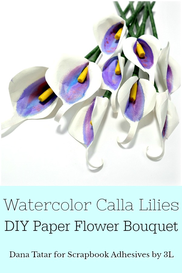 DIY Paper Calla Lily Bouquet Tutorial