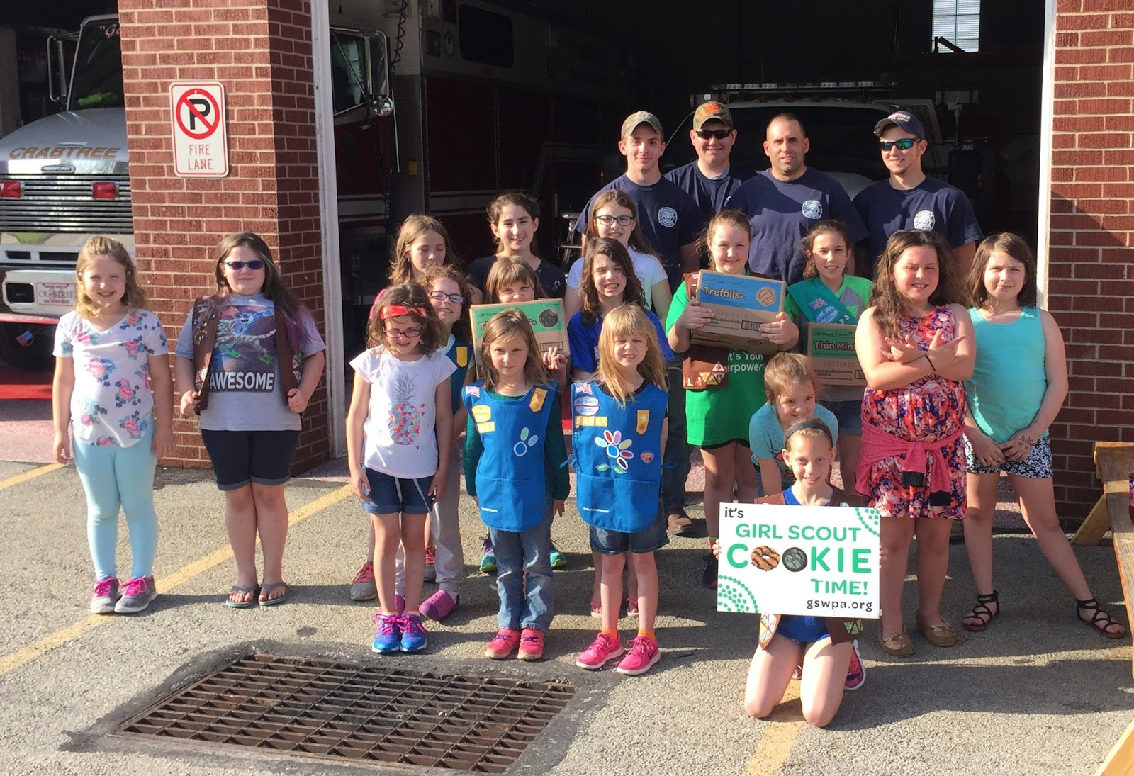 Girl scouts western pennsylvania greensburg girl scouts to deliver greensburg girl scouts to deliver cookies to local first responders publicscrutiny Image collections