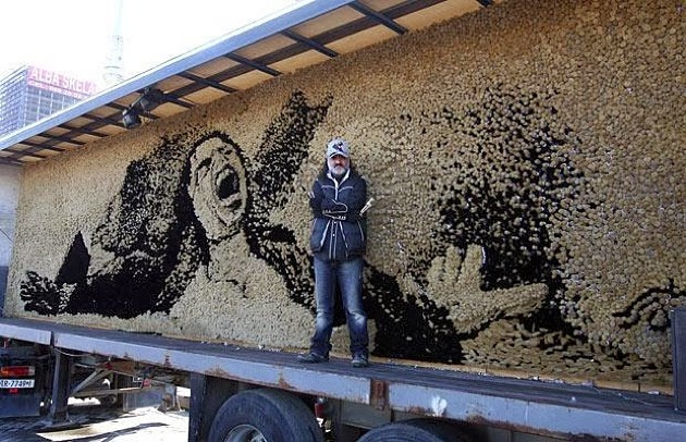 Saimir Strati, artista del mosaico, 7 récords mundiales guinness, Michael Jackson, King of Pop