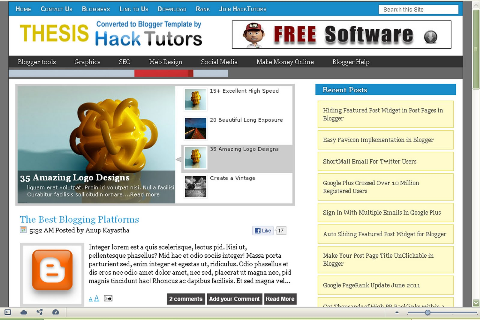download template seo