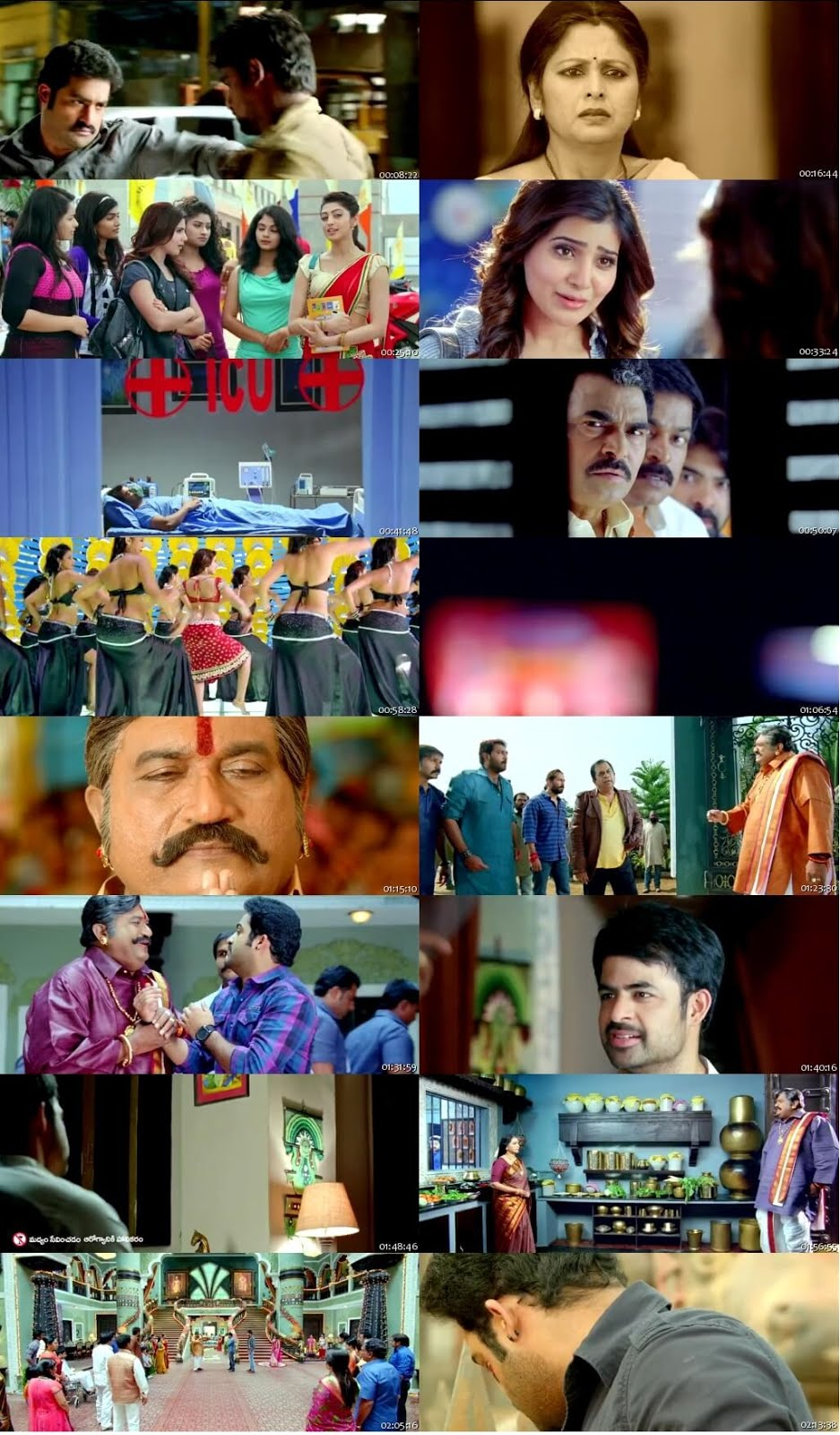 Screen Shot Of Tollywood Movie Rabhasa 2014 Full Movie In Hindi Dubbed Free download 720P HD