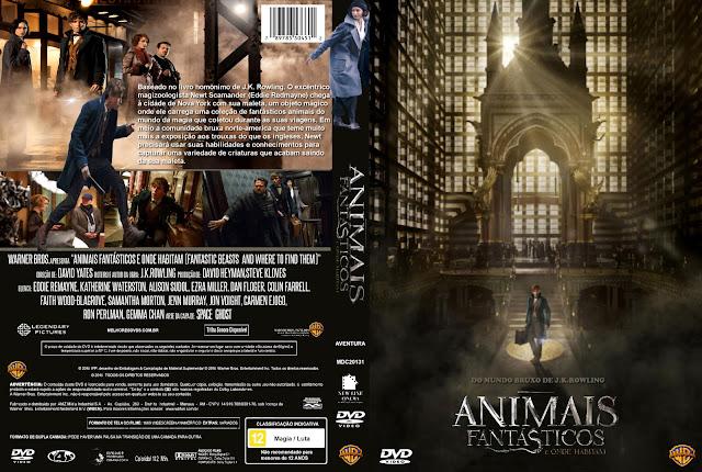 Capa DVD Animais Fantásticos E Onde Habitam