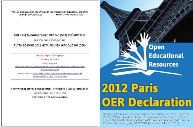 'Tuyên bố Paris 2012 về Tài nguyên Giáo dục Mở (OER)' - bản dịch sang tiếng Việt