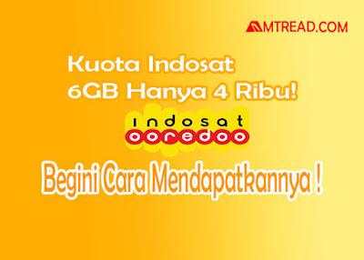 Kuota Indosat Ooredo 4000 Dapat 6GB 1 Hari!