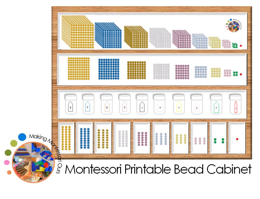 Diy Montessori Bead Cabinet Compact Space Saving Version