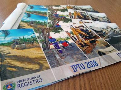 Carnês de IPTU começam a ser entregues em Registro-SP