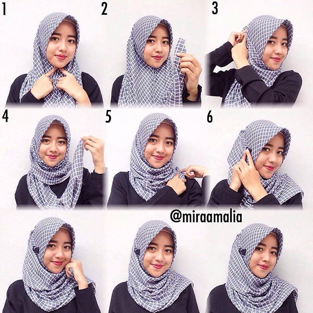Trik Cepat Cara Memakai Jilbab Segi Empat Sederhana yang Anggun