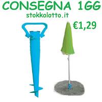 picchetto in plastica ABS trivella pianta ombrellone Trivella picchetto infila pianta Ombrellone Spiaggia Mare Campeggio PVC Plastica