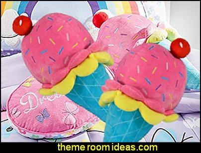 Ice Cream-shaped pillow   cupcakes bedroom ideas - cupcakes theme candy decorating candyland sweets - cupcake bedding - cupcake decor - candy decor -  Ice Cream decor - cupcakes and candy bedroom ideas - candy theme bedroom - cupcakes and candy decor - Candy party props - Candy party decorations - candyland gingerbread decorations