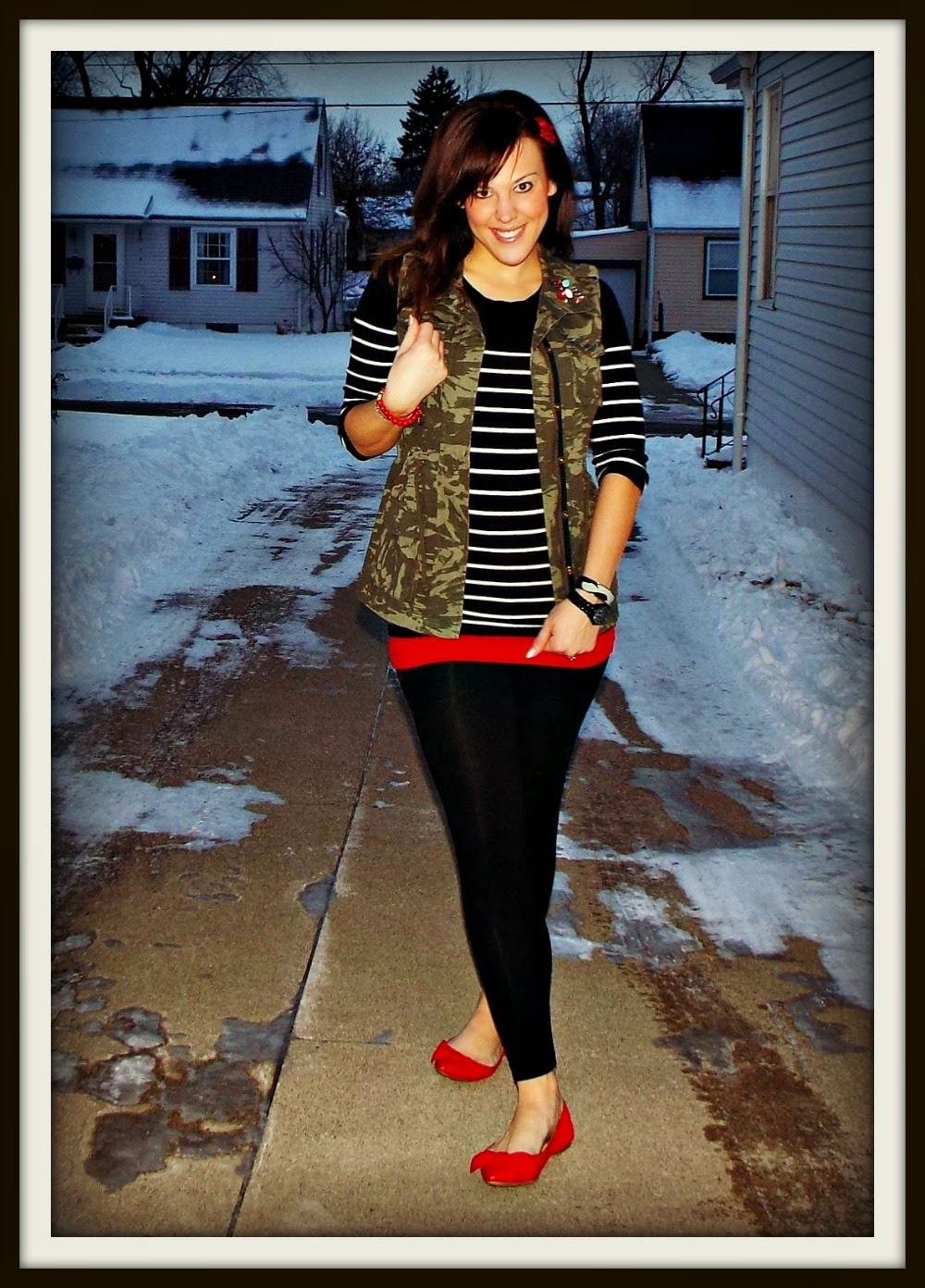 Mixing Patterns- Camo & Stripes   Fashion, Bling, and ...