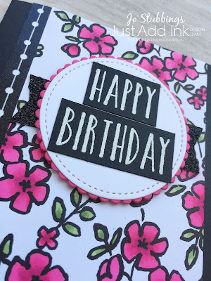 Jo's Stamping Spot - Just Add Ink Challenge #395 using Petal Passion DSP by Stampin' Up!