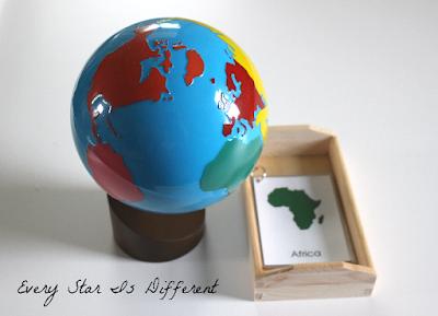 Seven Continent Nomenclature Cards