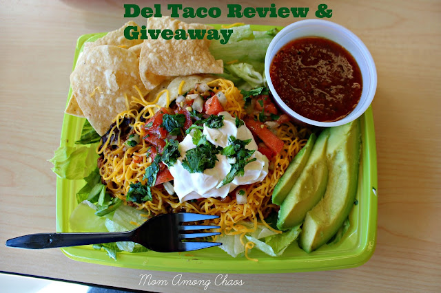 fresh, Del Taco, review, fast-food, salads, food, healthy, healthy eating, giveaway, gift card,