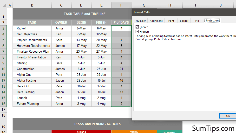 How to Lock and Hide Formulas in Excel