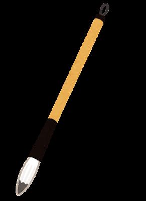 筆のイラスト(書道用品)
