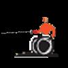 tocado válido en silla de ruedas