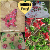 Toddler Christmas Salt dough ornaments