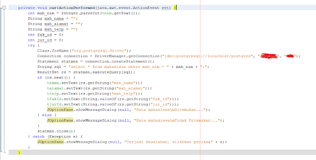 Kelas Informatika - Source Code Search Action Performed