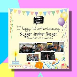 1st Anniversary Blogger Jember Sueger