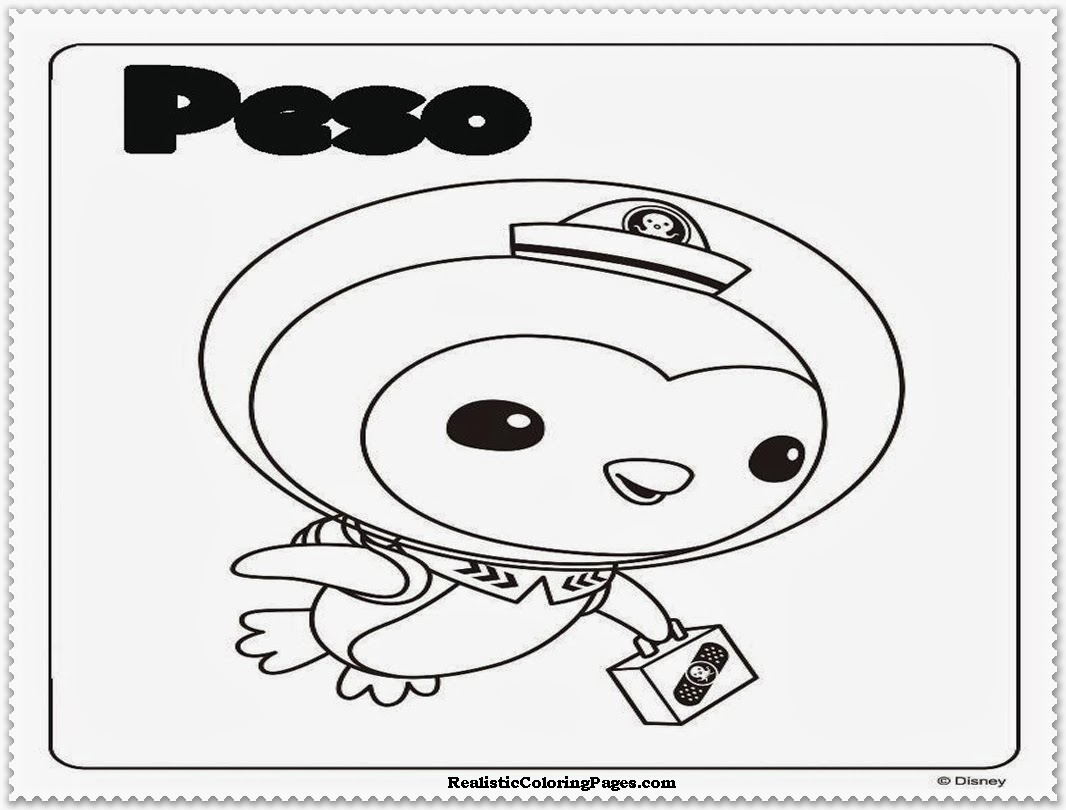 octonauts peso coloring pages