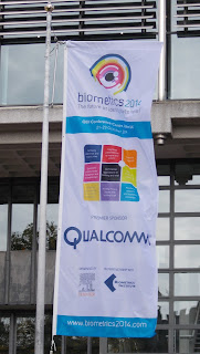 pic of Biometrics 2014 entrance flag