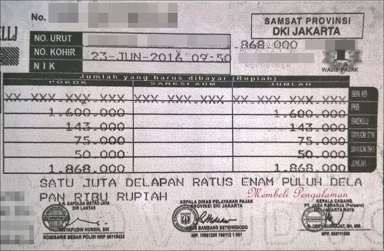 Menghitung Pajak Tahunan Denda Keterlambatan Stnk Vios Limo Ex Taksi