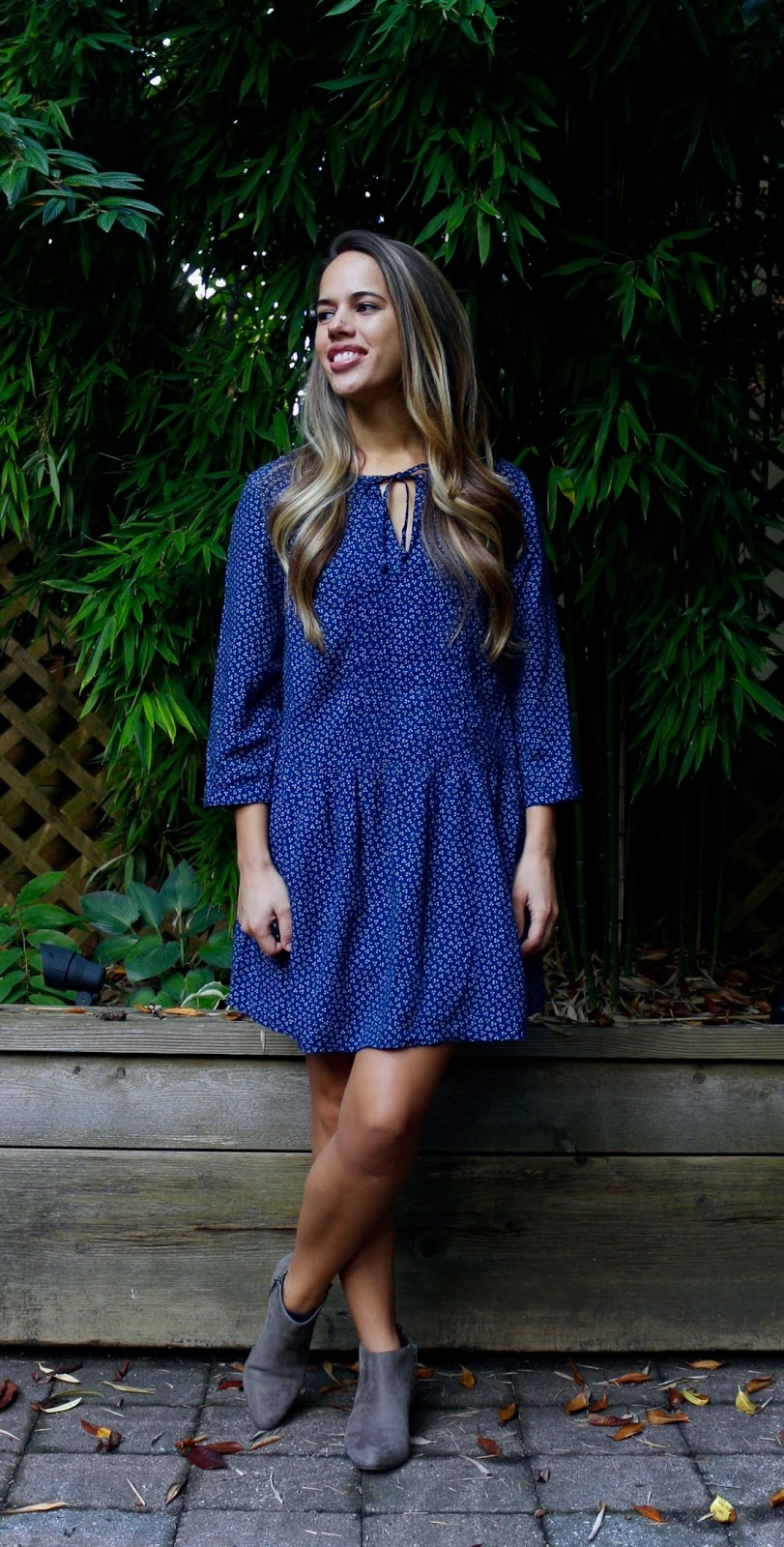 Jules in Flats - Dress with Ankle Boots (Business Casual Fall Workwear on a Budget)