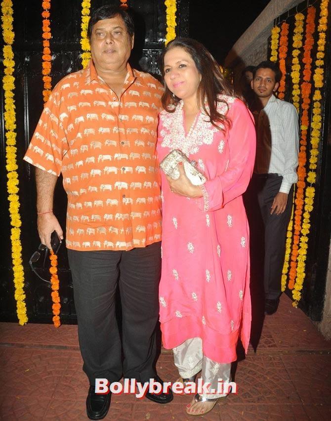David Dhawan and Karuna, Ekta Kapoor's Diwali bash 2013