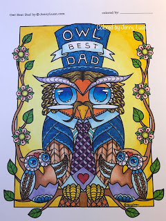 Owl best dad by JennyLuanArt