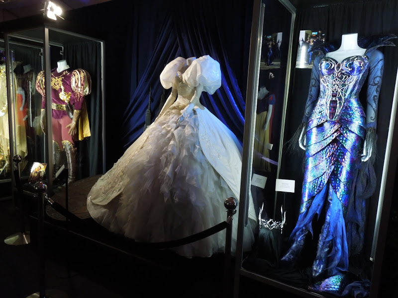 Original Enchanted movie costumes display