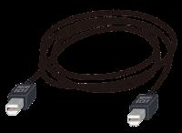 miniDisplayPort端子の付いたケーブルのイラスト