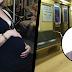 En 8 meses ningún hombre le ofreció asiento a esta embarazada. Cuando él lo hizo, ella sacó esto del bolso