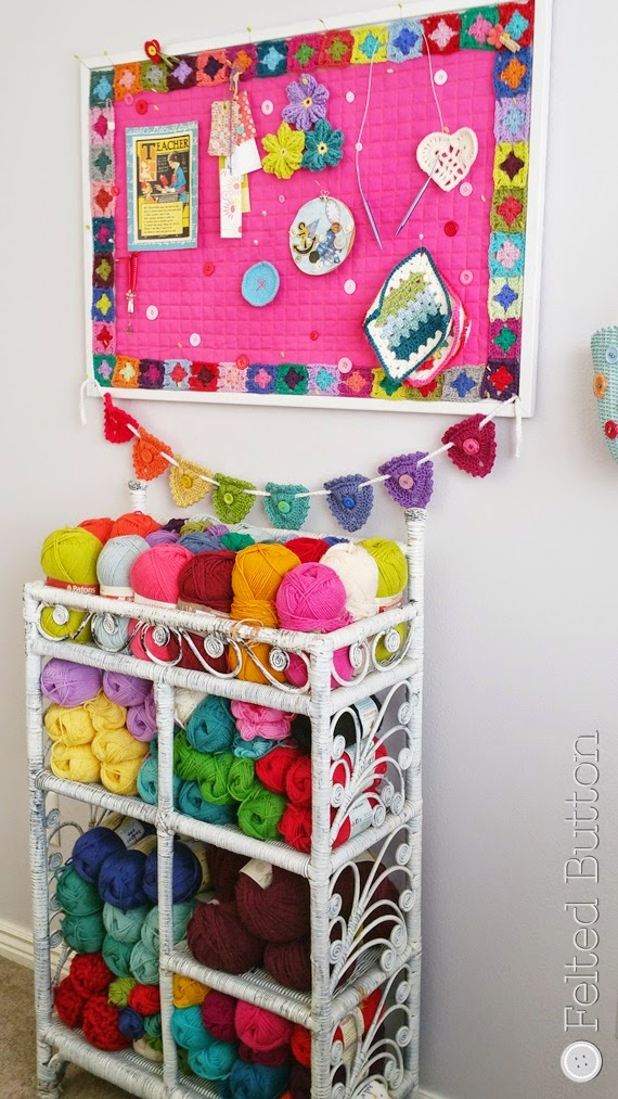 Studio Organization (Felted Button--Colorful Crochet Patterns)