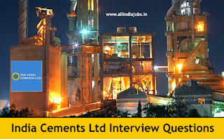 India Cements Interview Questions