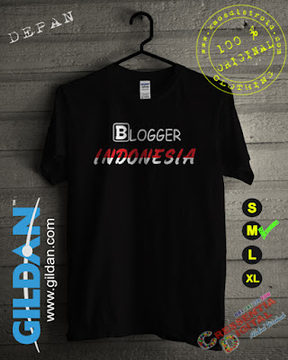 Baju Kaos Blogger Indonesia 2 Warna Hitam