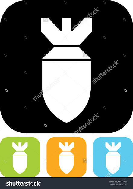 Air Bomb Vector Icon