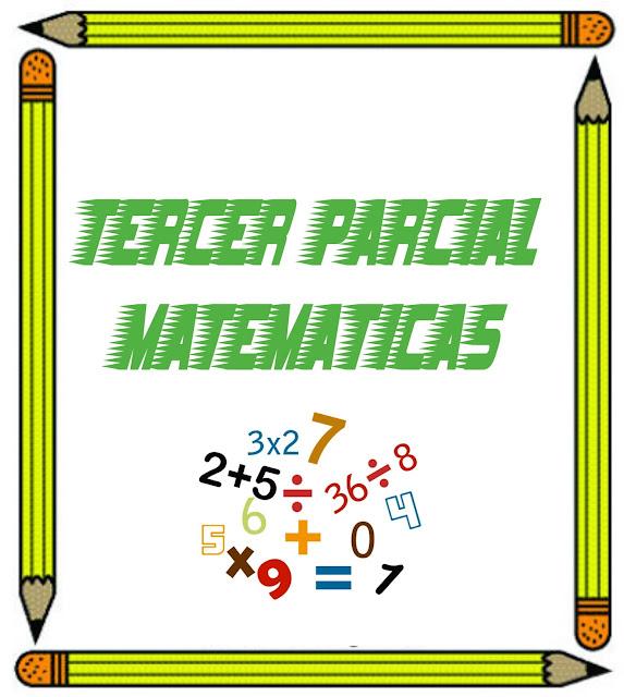 tercer parcial matemáticas imagenes bonitas de matemáticas, bordes para matemáticas, portadas para matematicas