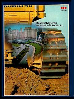 propaganda esteira Komatsu - 1973, anos 70, década de 70, Oswaldo Hernandez,