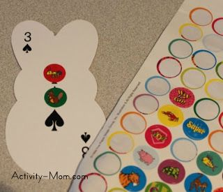 make a counting book with playing cards