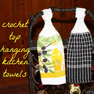 crochet top hanging kitchen dish towels