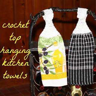 crochet top hanging kitchen dish towels