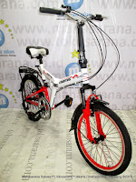 20 Inch Exotic ET20-2030 Suspension 6 Speed Folding Bike White/Red