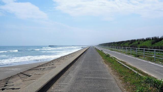 銚子から九十九里沿いに上総一ノ宮まで走るサイクリングコース