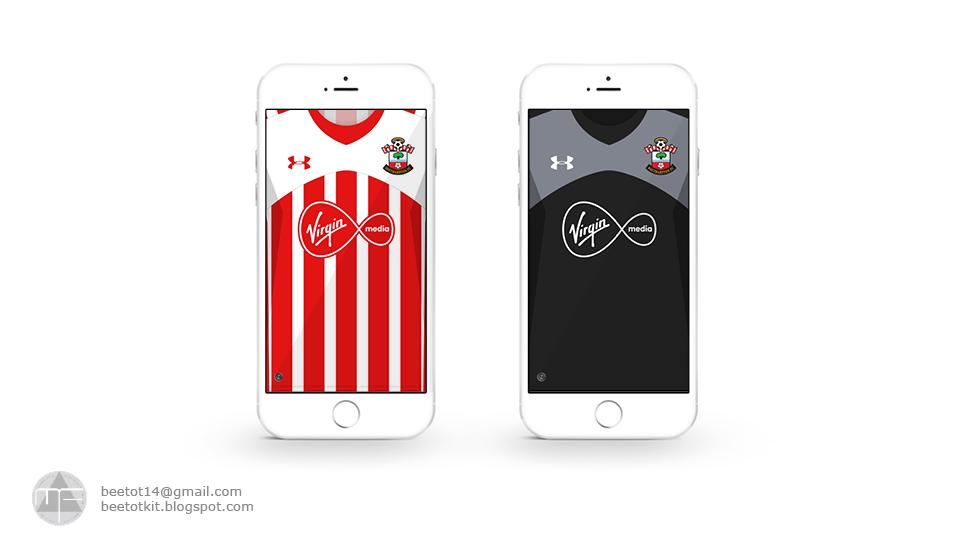 Beetot Kit: Southampton FC Kit 16/17 Iphone 6 Wallpaper