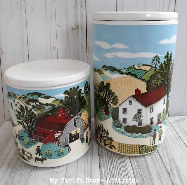 vintage Avon Pfaltzgraff canisters