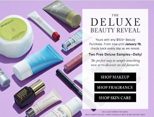 Hudson's Bay Deluxe Free Beauty Samples