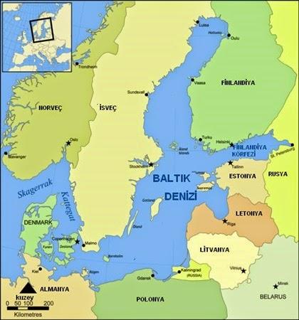 Baltık Denizi Avrupa Haritası