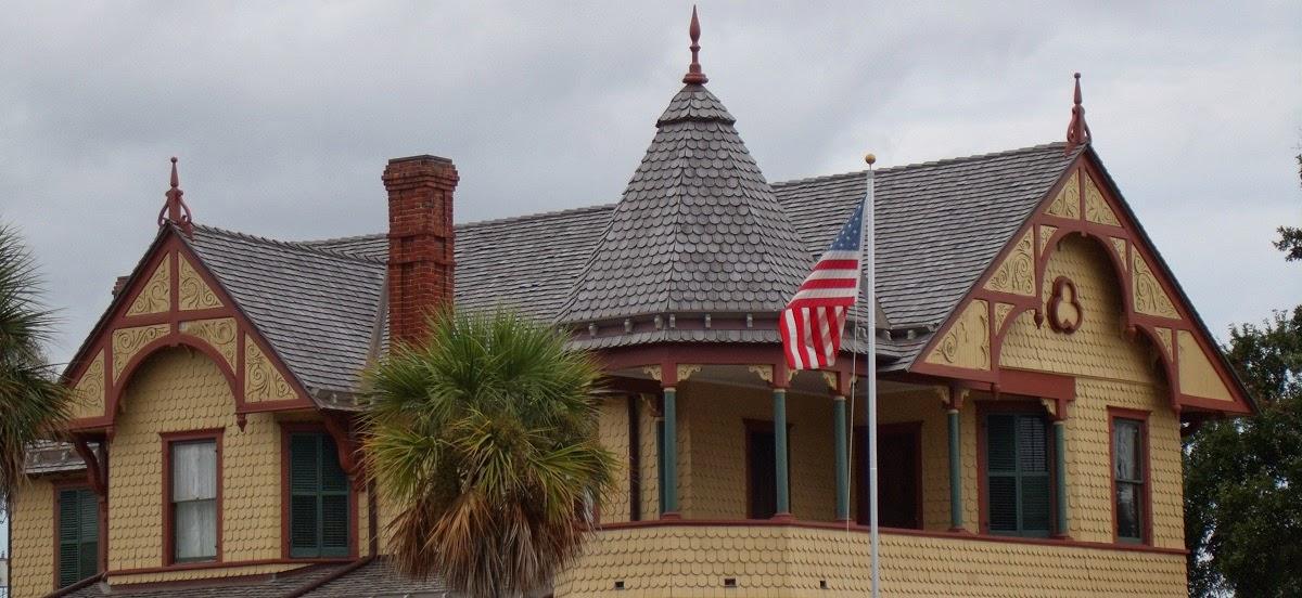 Detalle de la planta superior en la Pritchard House