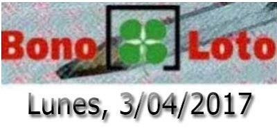sorteo de bonoloto del lunes 3 de abril de 2017