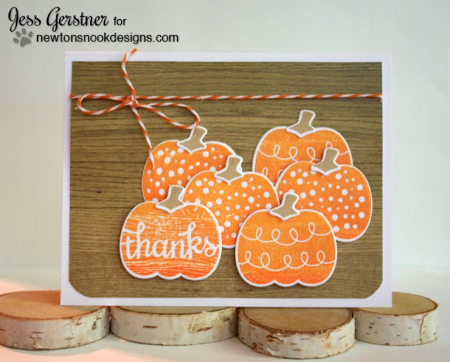 Fall Pumpkin Card by Jess Gerstner using Newton's Nook Designs Pick a Pumpkin